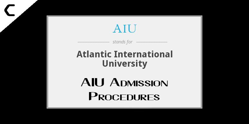 AIU Admission Procedures