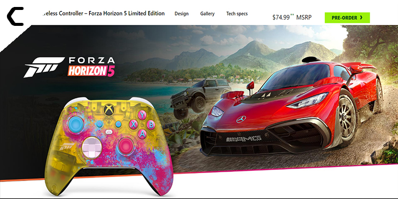 Forza to Get a Colorful Translucent Controller for Xbox Series X
