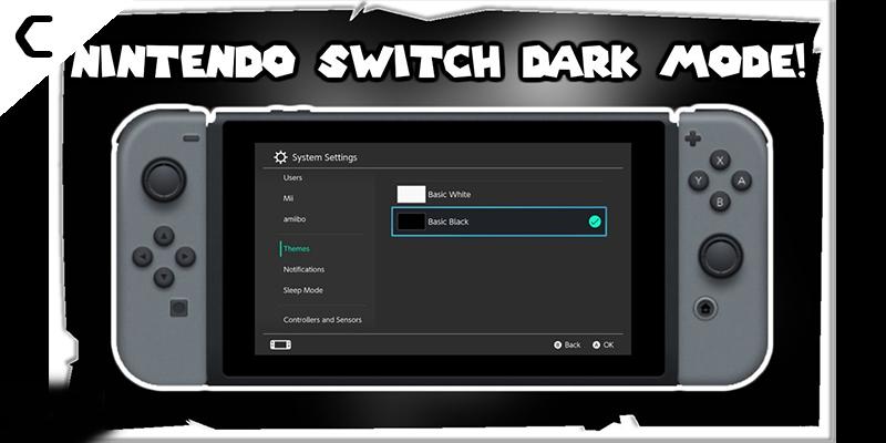 Nintendo Switch Dark Mode